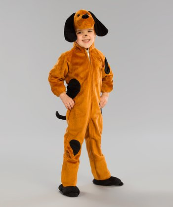 Tan & Black Spot Dog Dress-Up Outfit - Toddler
