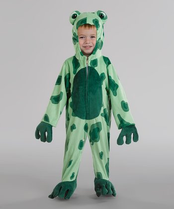 Light Green Frog Dress-Up Outfit - Toddler