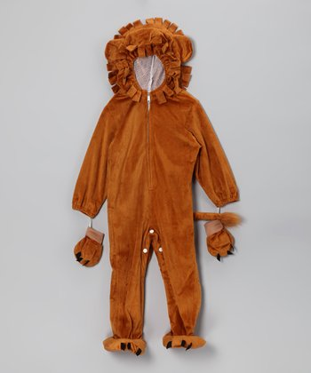 Tan Lion Dress-Up Outfit & Looped Mane - Toddler