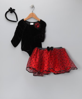 Just Pretend by Wyla Chili Pepper Skirt Set - Toddler & Girls