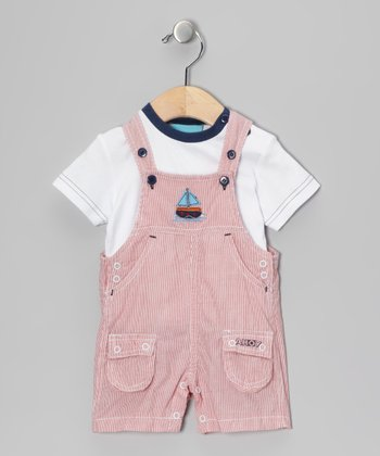 Red Stripe Buster Tee & Shortalls
