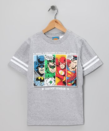 Gray Justice League Tee - Kids