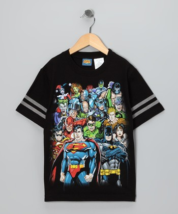 Black Justice League & Villains Tee - Kids
