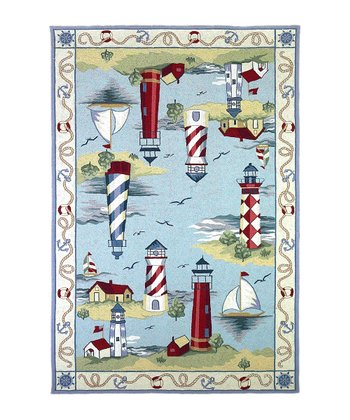 Lakehouse Views Colonial Wool-Blend Rug