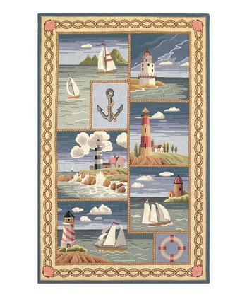Coastal Views Colonial Wool-Blend Rug