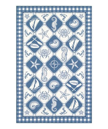 Nautical Panel Colonial Wool Rug