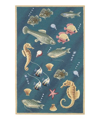 Deep Sea Dives Colonial Wool Rug