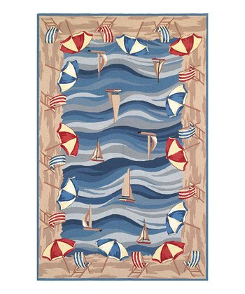 On the Beach Colonial Wool Rug