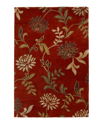 Red Florence Wool-Blend Rug