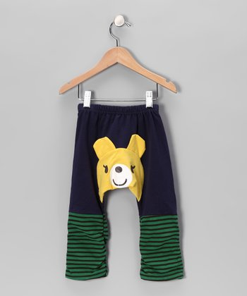 Dark Blue Bear Pants - Infant