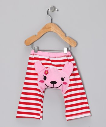 Red & Pink Stripe Puppy Pants - Infant & Toddler