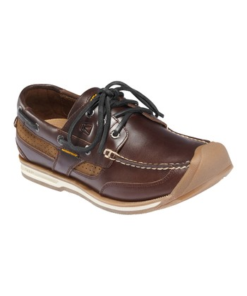 Red-Brown Newport Boat Shoe - Men