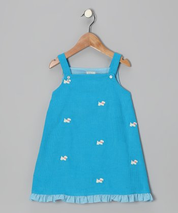 Blue Scottie Dog Ruffle Ruffle Jumper - Infant, Toddler & Girls
