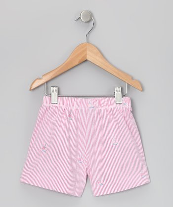 Raspberry Sailboat Seersucker Shorts - Infant, Toddler & Girls