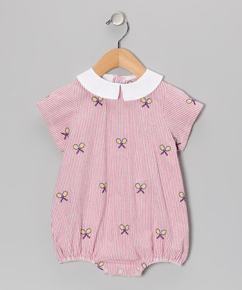 Red Racquet Seersucker Bubble Bodysuit - Infant
