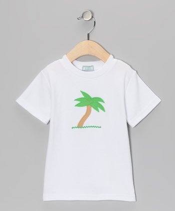 White Palm Tree Tee - Infant