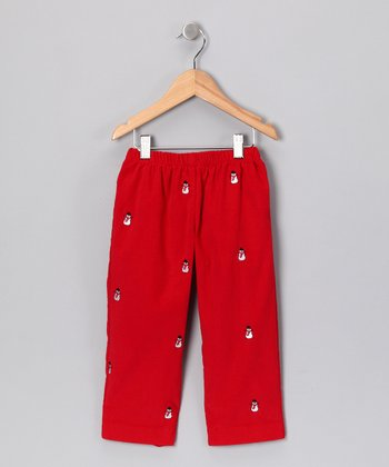 Red Snowman Corduroy Pants - Infant, Toddler & Boys