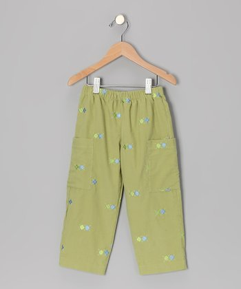 Leaf Green Argyle Pants - Infant, Toddler & Boys