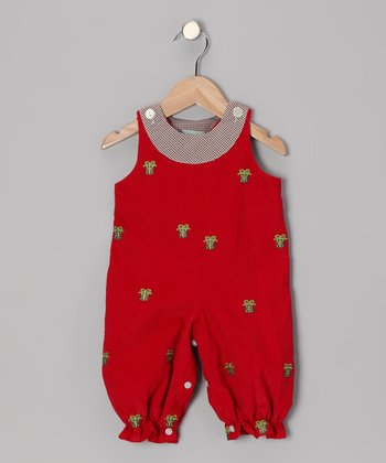 Red Gift Romper - Infant & Toddler