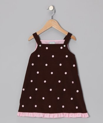 Brown Polka Dot Ruffle Jumper - Infant, Toddler & Girls
