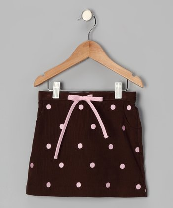 Brown Polka Dot Skirt - Toddler & Girls