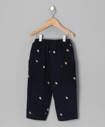 Navy Football Pants - Infant, Toddler & Boys
