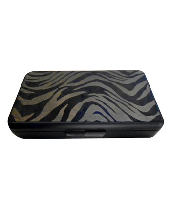 Black Foiled Zebra Wipes Clutch