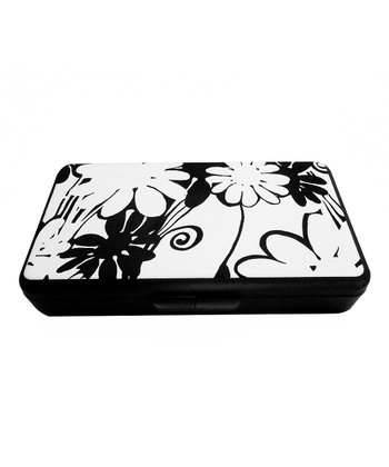 Black & Ecru Mod Floral Wipes Clutch