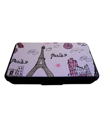 Black & Pink 'Paris' Sparkle Wipe Clutch