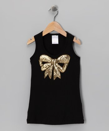 Black Sequin Bow Tank - Infant, Toddler & Girls