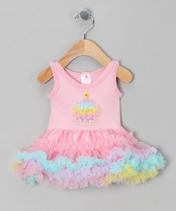 Pink Cupcake Ruffle Dress - Infant