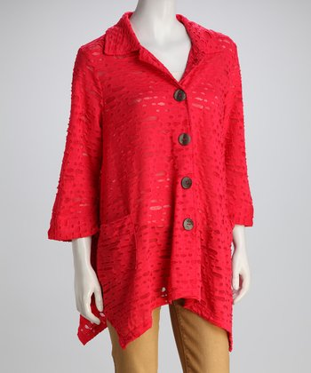 Kaktus Deep Coral Sidetail Coat