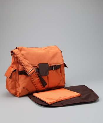 Orange Kelly Diaper Messenger Bag