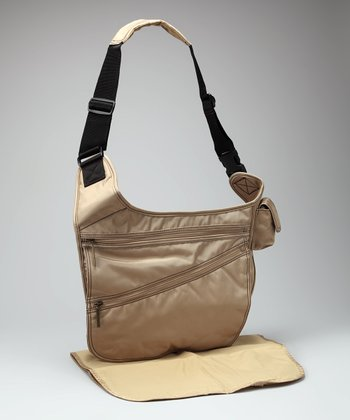 Tan Urban Crossbody Diaper Bag