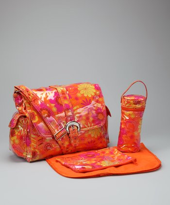 Santa Fe Laminated Buckle Diaper Bag
