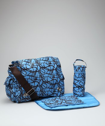 Blue Ripstop Sam's Diaper Messenger Bag