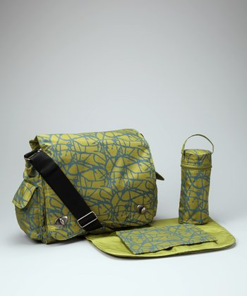 Green Ripstop Sam's Diaper Messenger Bag