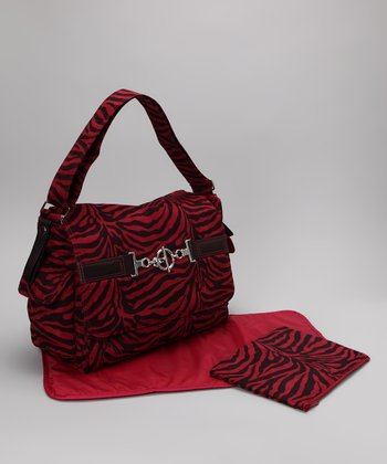 Tiger Raspberry Hannah's Messenger Diaper Bag
