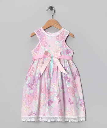 Kami's Kids Lilac Butterfly Ashley Dress - Infant & Toddler