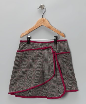 Gray & Purple Plaid Skirt - Toddler & Girls