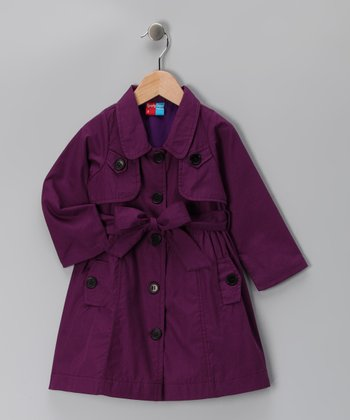Purple Adrianne Coat - Infant, Toddler & Girls