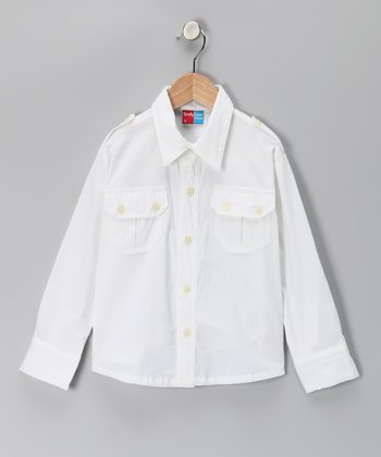 White Jerome Button-Up - Infant, Toddler & Boys