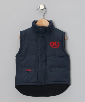 Blue 'K Crew' Puffer Vest - Toddler & Boys