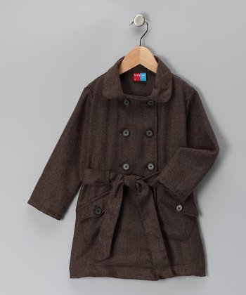 Brown Winfrey Wool-Blend Coat - Infant, Toddler & Girls