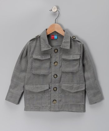 KandyCrew Gray Plaid Wyatt Coat - Infant, Toddler & Boys
