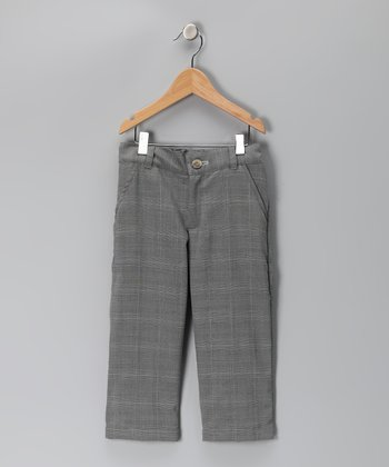KandyCrew Gray Plaid Wyatt Pants - Infant, Toddler & Boys