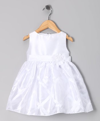 White Margarette Dress - Infant, Toddler & Girls
