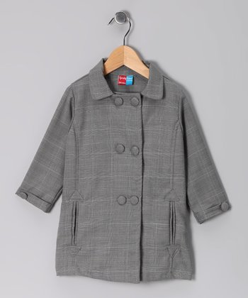 Gray Wyatt Wool-Blend Trench Coat - Infant, Toddler & Girls