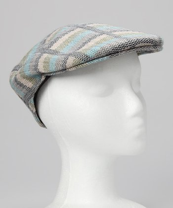 Blue & Green Plaid Newsboy