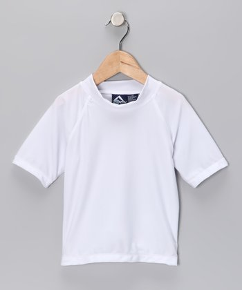White Fiji Rashguard - Toddler & Boys